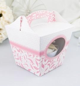 Svatební krabička na cupcake - KC1003