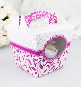 Svatební krabička na cupcake - KC1004