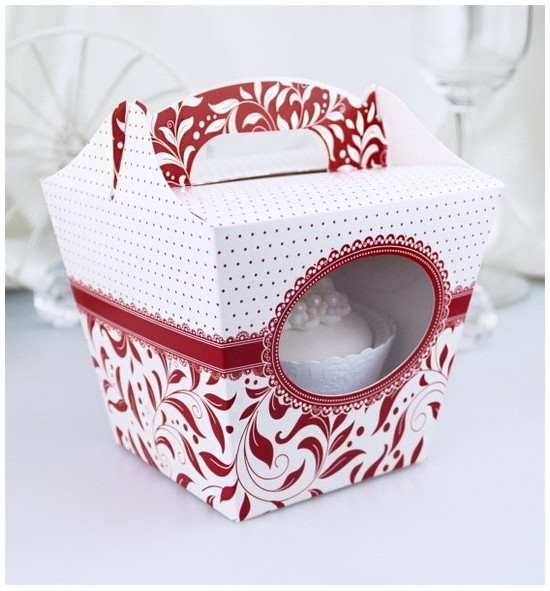 Svatební krabička na cupcake - KC1008