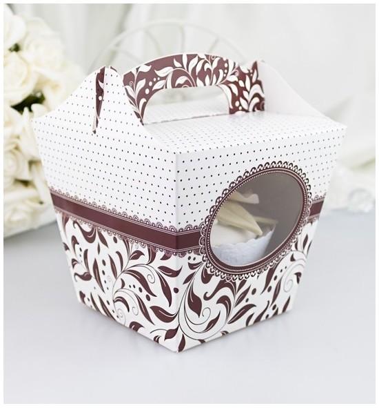 Svatební krabička na cupcake - KC1009