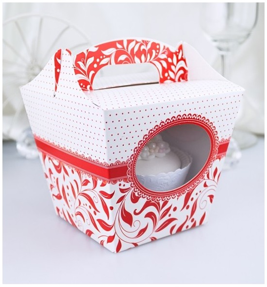 Svatební krabička na cupcake - KC1015