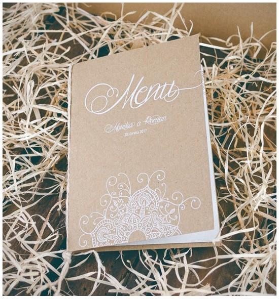 Svatební menu M2052B
