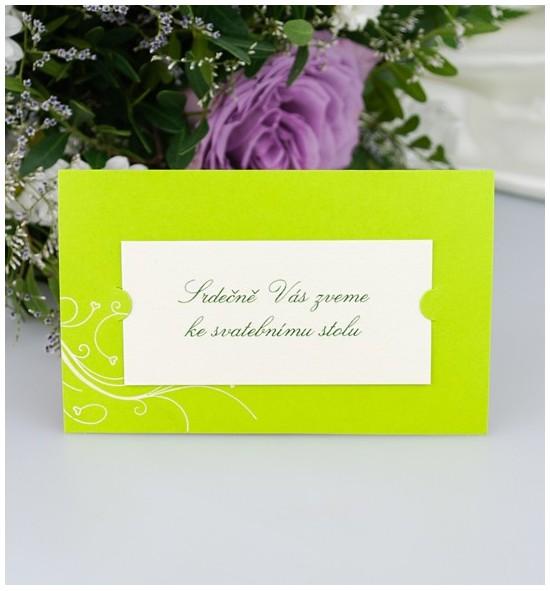 Pozvánka ke svatebnímu stolu P2000