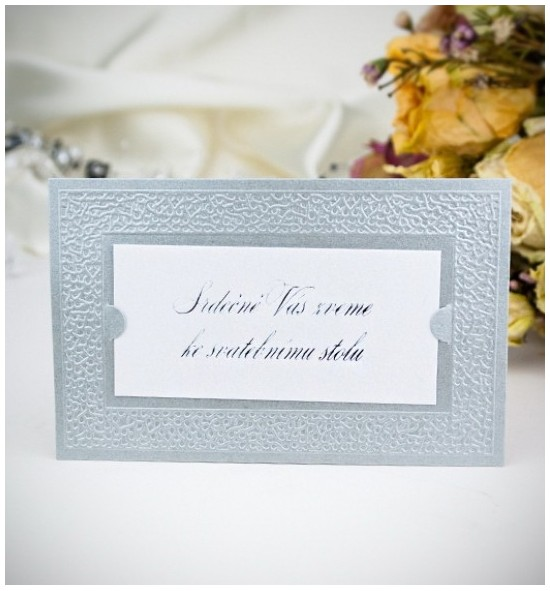 Pozvánka ke svatebnímu stolu P2002