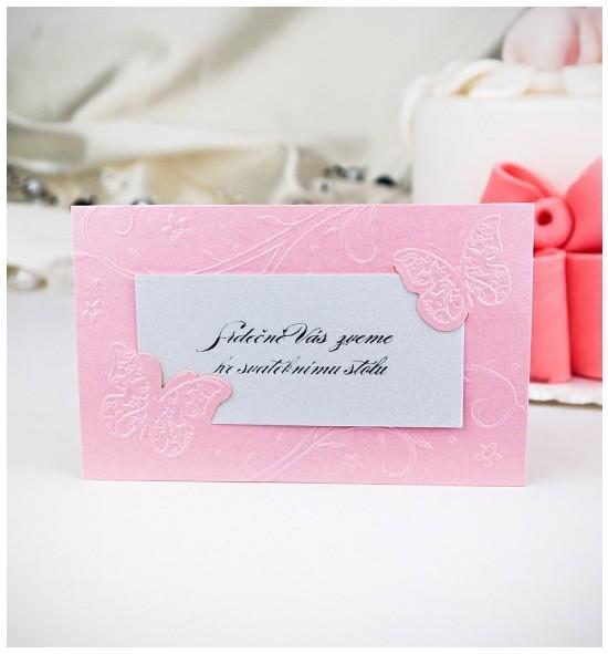 Pozvánka ke svatebnímu stolu P2005