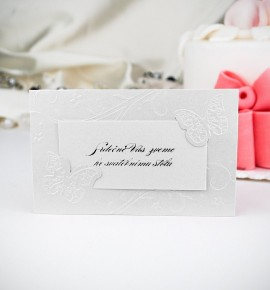 Pozvánka ke svatebnímu stolu P2005B