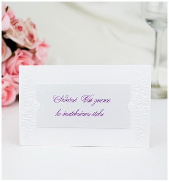 Pozvánka ke svatebnímu stolu P2007A