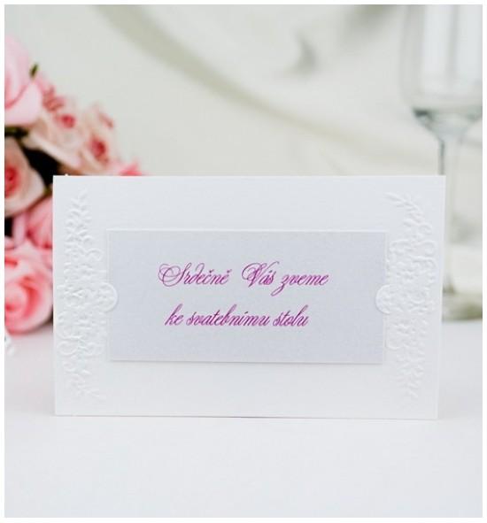 Pozvánka ke svatebnímu stolu P2007C
