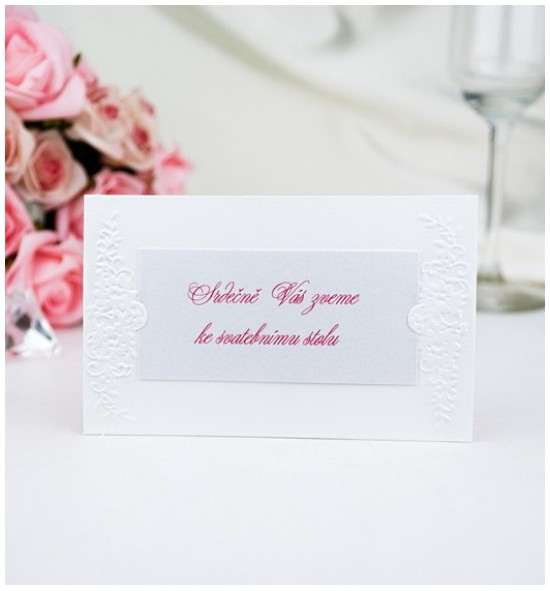 Pozvánka ke svatebnímu stolu P2007D