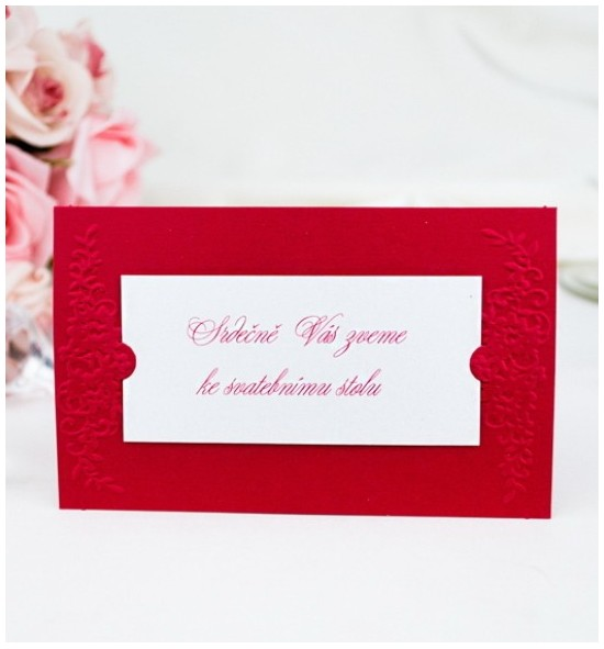 Pozvánka ke svatebnímu stolu P2007E