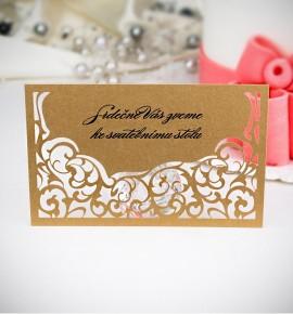 Pozvánka ke svatebnímu stolu P2008