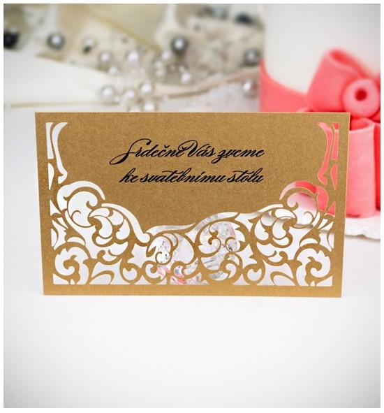 Pozvánka ke svatebnímu stolu P2008A