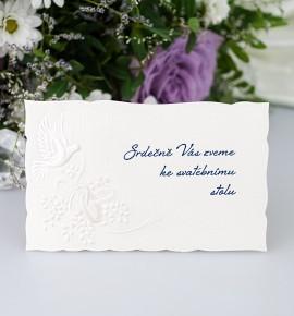 Pozvánka ke svatebnímu stolu P2009