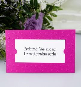 Pozvánka ke svatebnímu stolu P2011