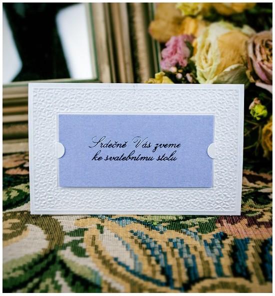 Pozvánka ke svatebnímu stolu P2013A