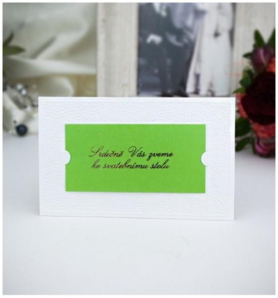 Pozvánka ke svatebnímu stolu P2013B