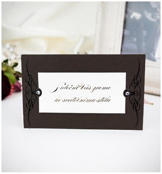 Pozvánka ke svatebnímu stolu P2019B