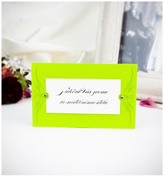 Pozvánka ke svatebnímu stolu P2019C