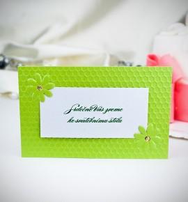 Pozvánka ke svatebnímu stolu P2020