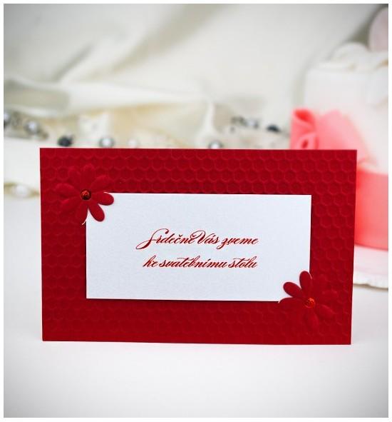 Pozvánka ke svatebnímu stolu P2020C