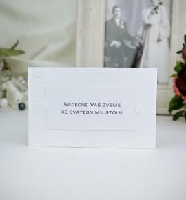 Pozvánka ke svatebnímu stolu P2021