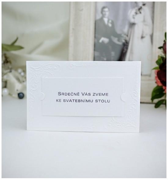 Pozvánka ke svatebnímu stolu P2021A