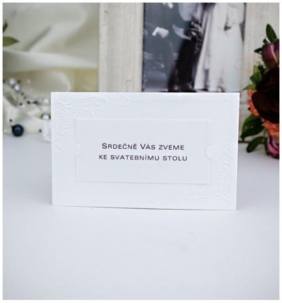 Pozvánka ke svatebnímu stolu P2021B