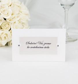 Pozvánka ke svatebnímu stolu P2024A