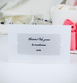 Pozvánka ke svatebnímu stolu P2024B