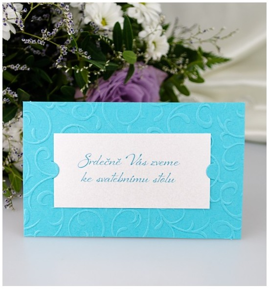 Pozvánka ke svatebnímu stolu P2027