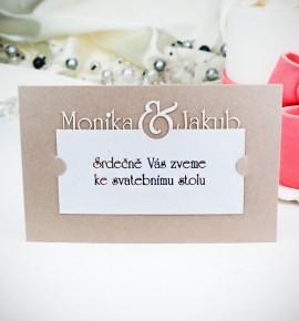 Pozvánka ke svatebnímu stolu P2028A