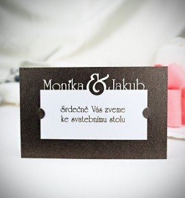 Pozvánka ke svatebnímu stolu P2028B