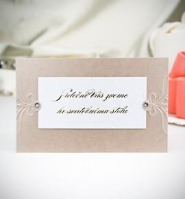 Pozvánka ke svatebnímu stolu P2029A