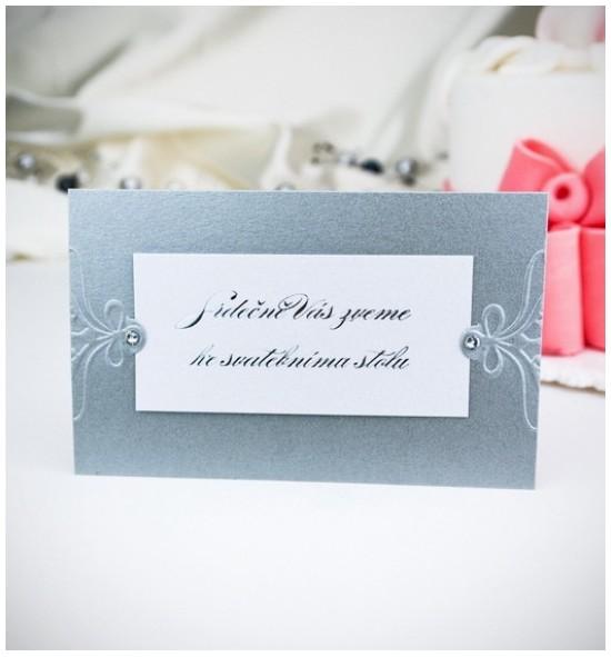 Pozvánka ke svatebnímu stolu P2029B