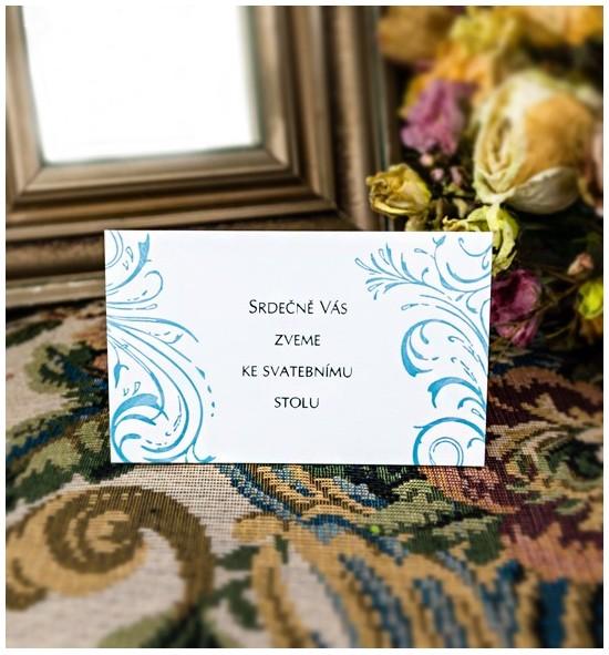 Pozvánka ke svatebnímu stolu P2031