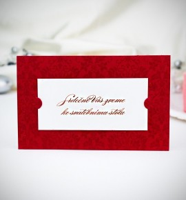 Pozvánka ke svatebnímu stolu P2032