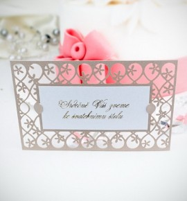 Pozvánka ke svatebnímu stolu P2034