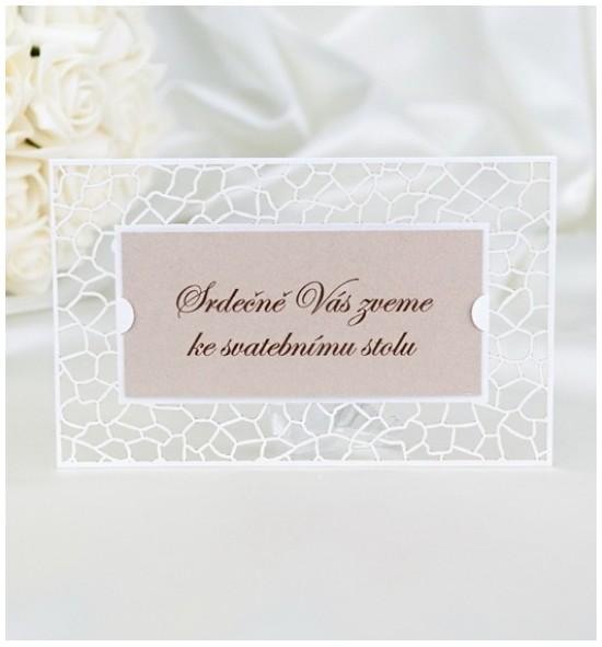 Pozvánka ke svatebnímu stolu P2036