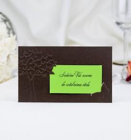 Pozvánka ke svatebnímu stolu P2039