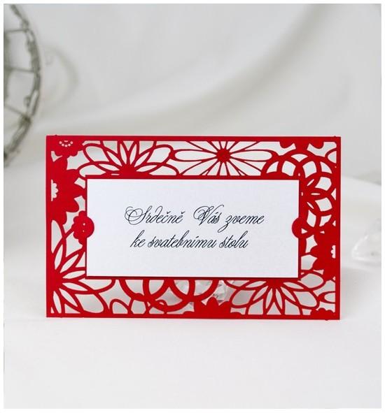 Pozvánka ke svatebnímu stolu P2044A