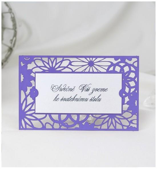 Pozvánka ke svatebnímu stolu P2044B