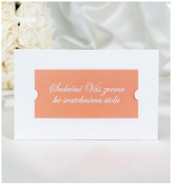 Pozvánka ke svatebnímu stolu P2047