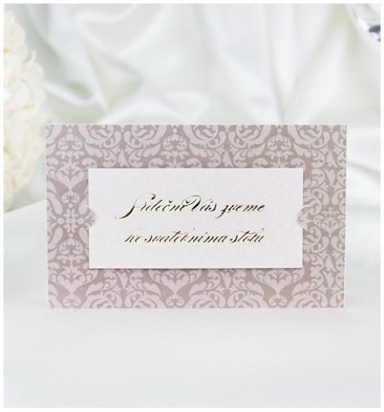 Pozvánka ke svatebnímu stolu P2048