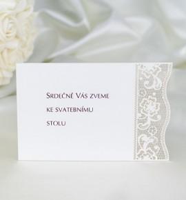 Pozvánka ke svatebnímu stolu P2049