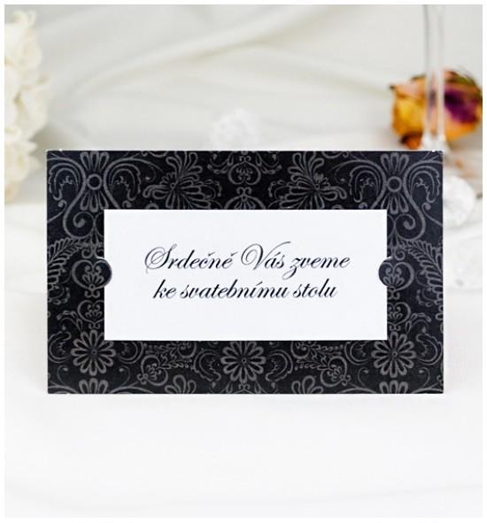 Pozvánka ke svatebnímu stolu P2050A