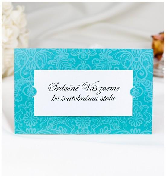 Pozvánka ke svatebnímu stolu P2050B