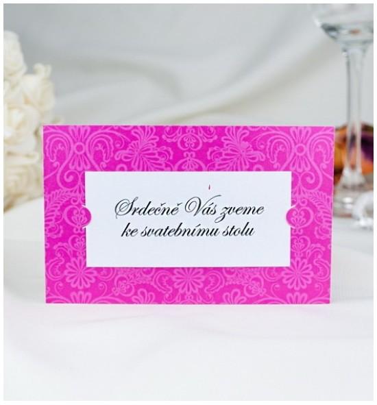 Pozvánka ke svatebnímu stolu P2050C