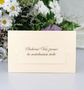 Pozvánka ke svatebnímu stolu P2051