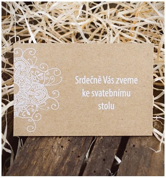 Pozvánka ke svatebnímu stolu P2052B