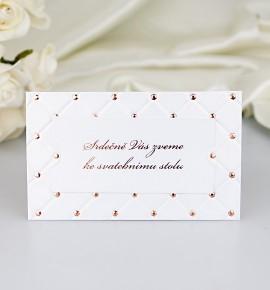 Pozvánka ke svatebnímu stolu P2053A